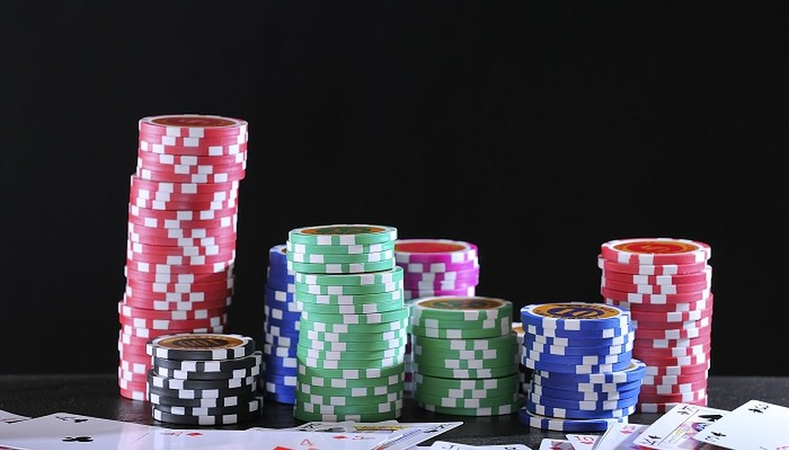 Fortunes are won and lost via the stacks of poker chips that move round the gaming table.