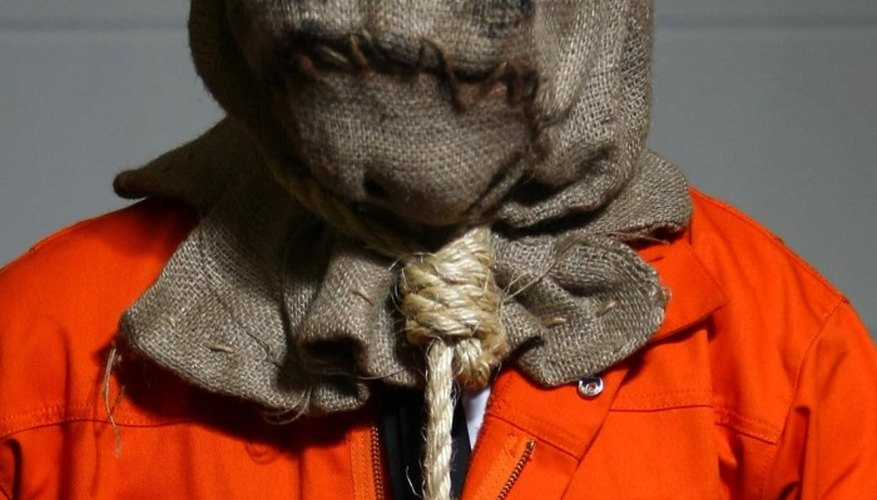 The Scarecrow's mask is based on a simple burlap sack.