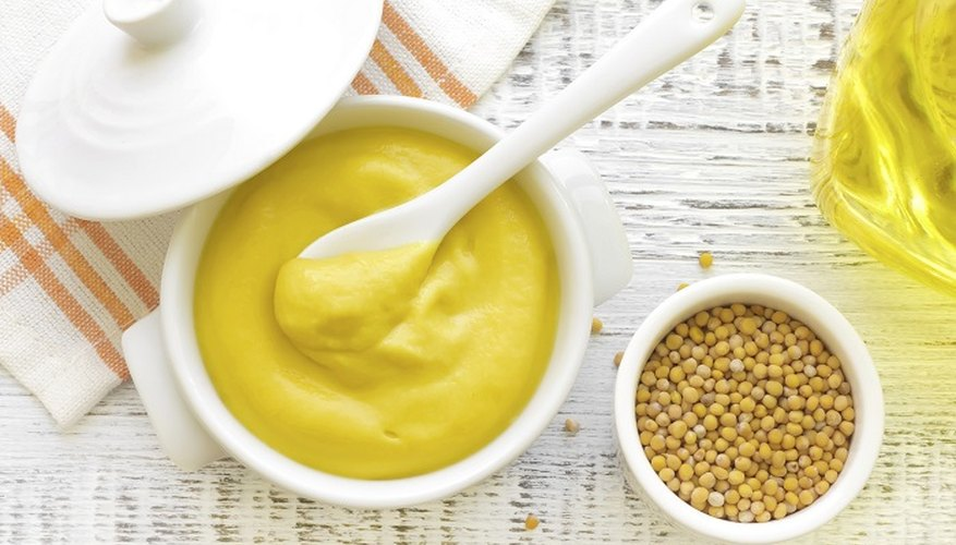 English mustard is a common condiment that you can use for cooking.