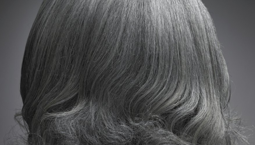 Some people choose to cover up grey hair.