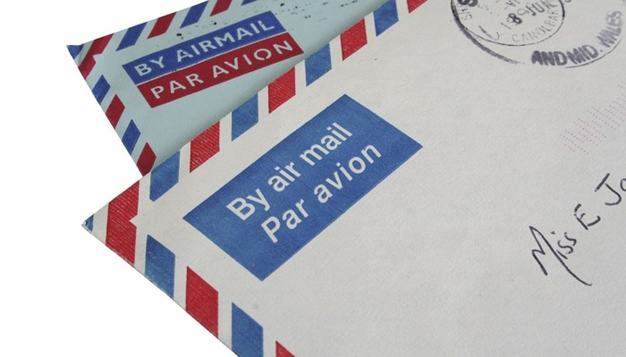 Letters sent to Germany by airmail will arrive quicker than by surface post.