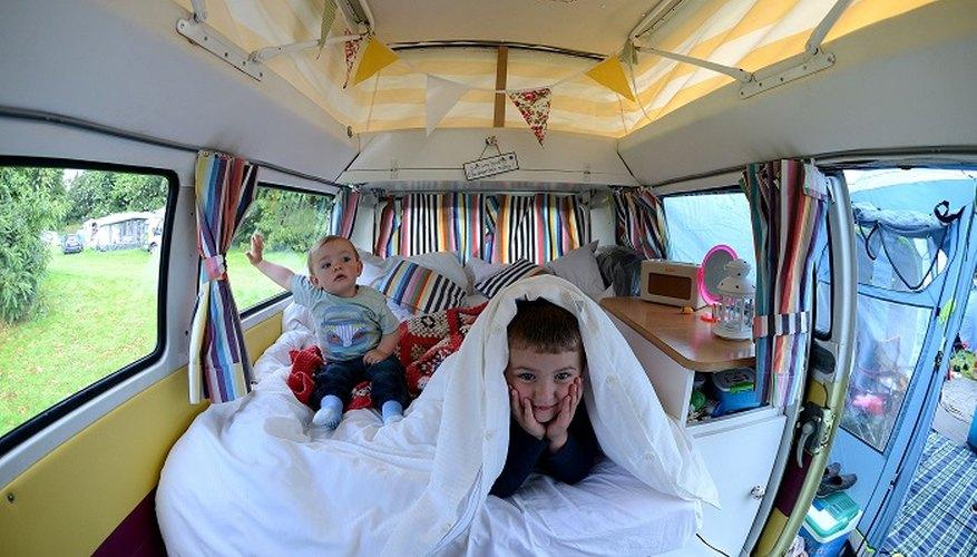 Convert a van into a comfortable camper van.
