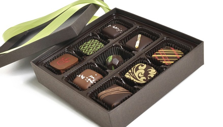 Keep your homemade chocolates under wraps to preserve them.