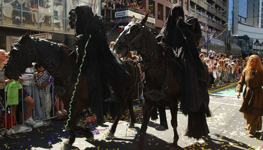 Black robes form the basis for your Nazgul costume.