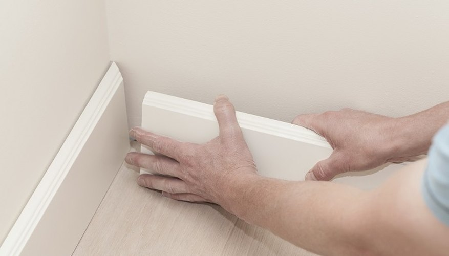 Give your floor an attractive finish by installing skirting boards.