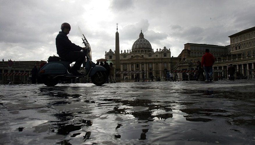 Enjoy the sights of Italy by scooter.