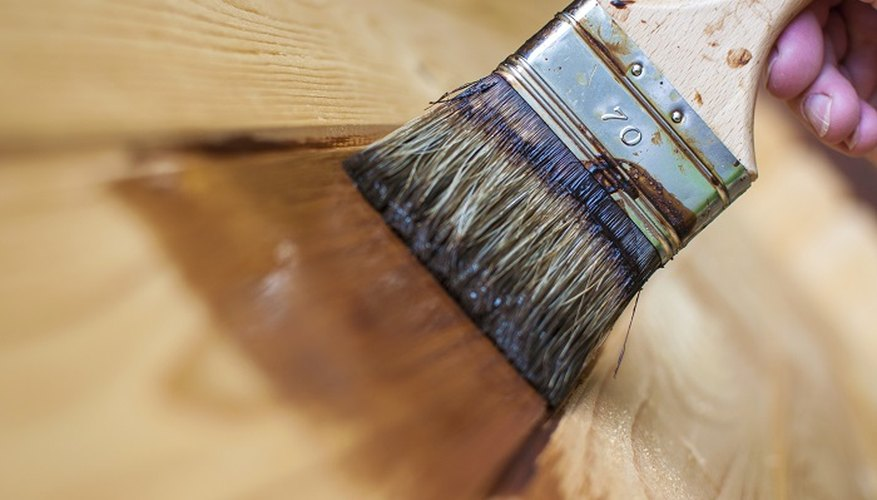 Don't use a nylon paintbrush to paint rubberwood.