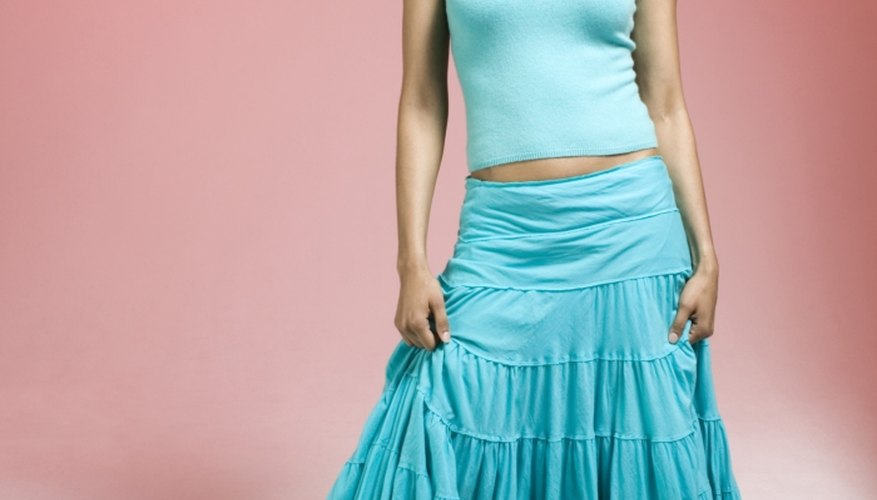 A simple adjustment fixes a skirt that's too big.
