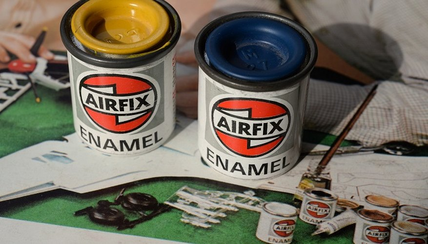 Enamel paint has long been a favourite with model makers.
