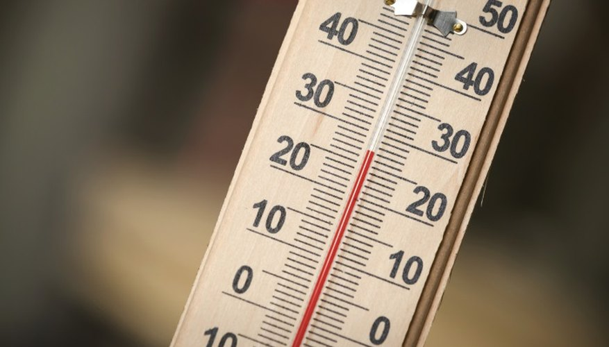 Thermometers should be stored upright to prevent column separation.