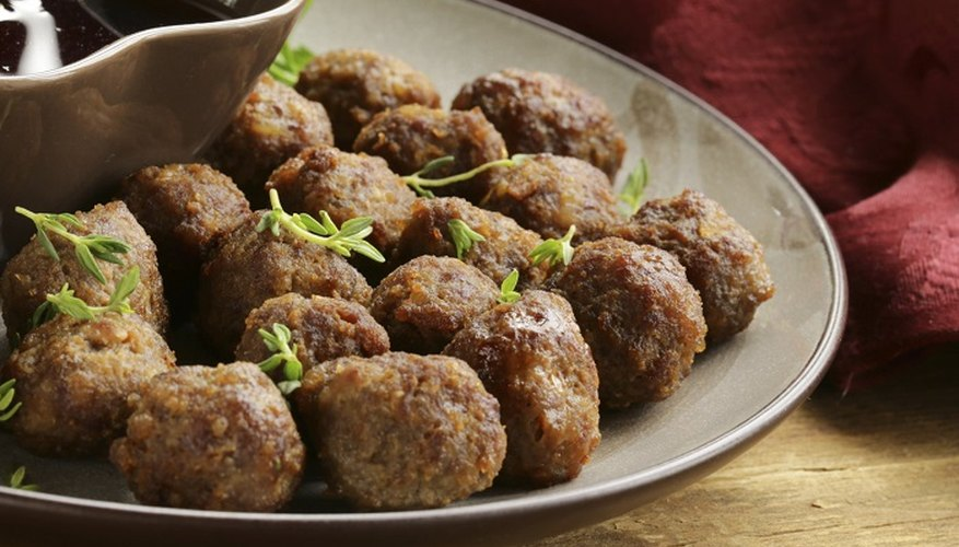 Thaw meatballs before serving with sauce, mash or spaghetti.