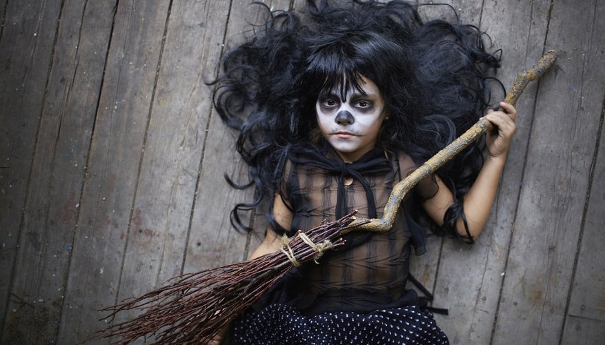 Witch costumes are a popular and easy choice for Halloween.