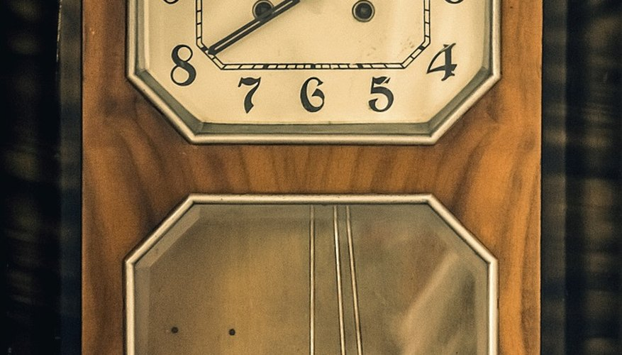Most pendulum clock problems are easy to fix.