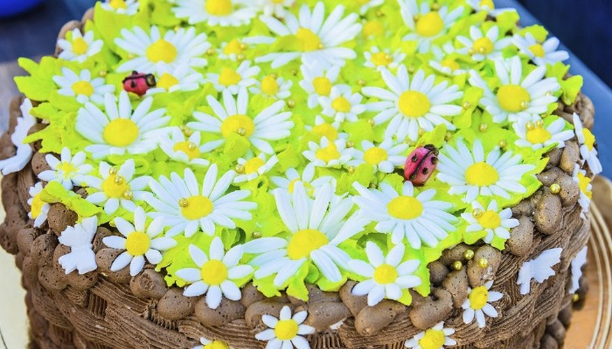 Gum paste flowers allow you to add detail to a cake.