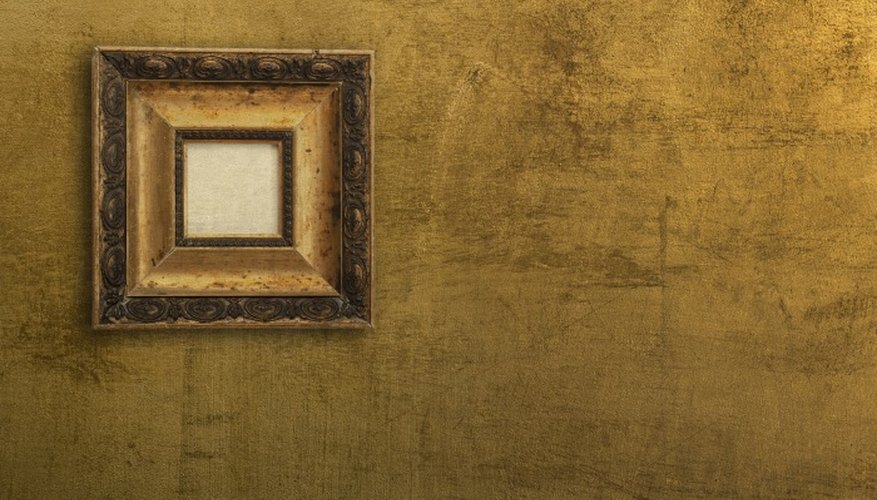 Mirrors and picture frames commonly have a gilt finish.