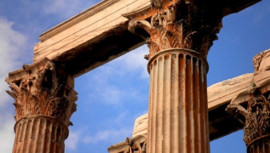 Although it's possible to tell Greek and Roman columns apart, the purpose of the building is a simpler indicator.