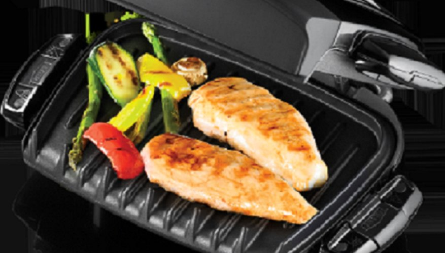 A George Foreman grill in peak condition.