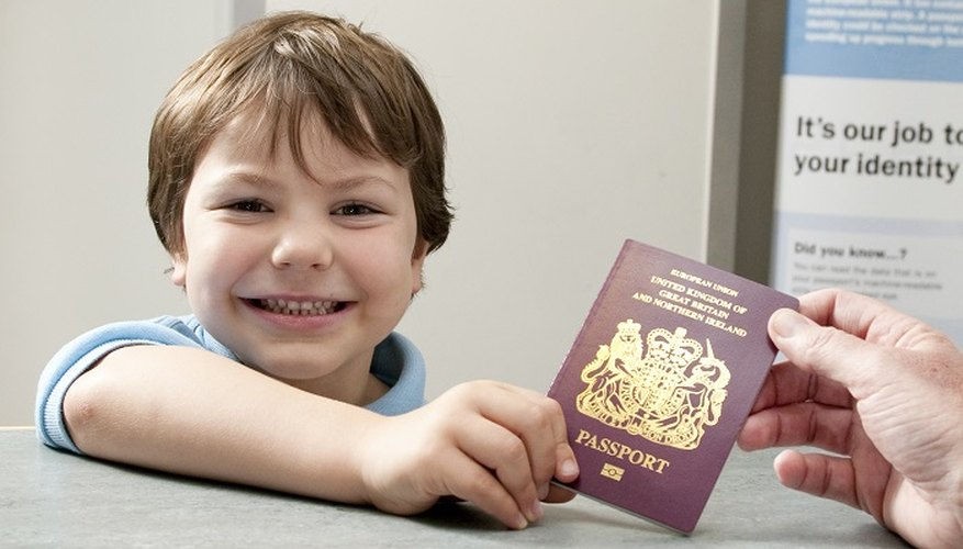 Children can create their own passport as a craft project.