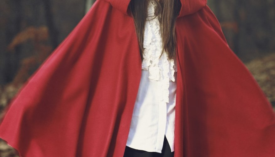 Little Red Riding Hood is a simple but effective Halloween costume.