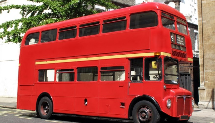 The traditional London Routemaster bus is a British icon.