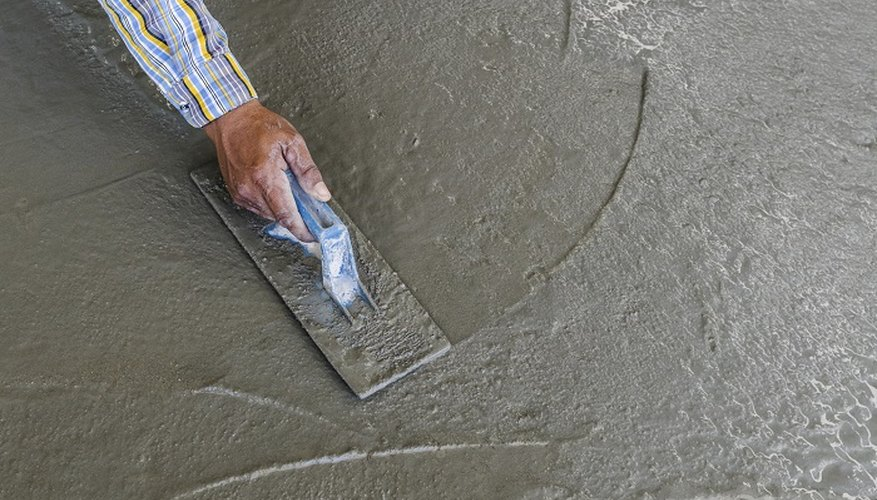 Lay self-levelling concrete over damaged floors.