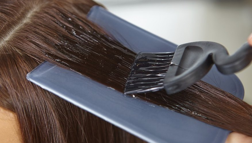Hair can become dry and brittle after colouring.