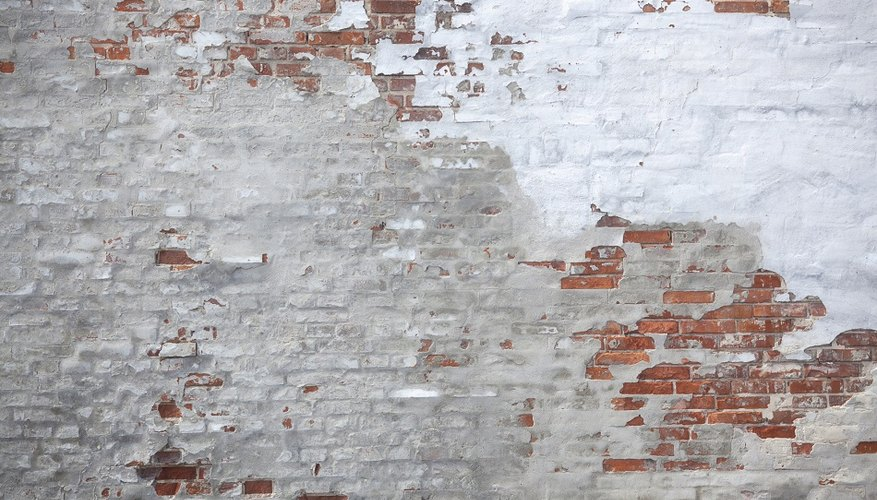Removing old paint from brickwork can be tricky.