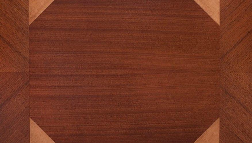 Mahogany wood is known for its pinkish or reddish-brown hue.