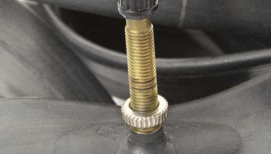 Presta valves can be identified by the nut at the base.