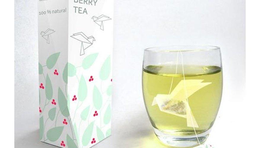 Estas bolsitas para el té están basadas en principios de origami.