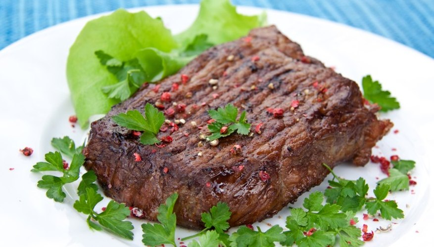 The meat of the bison is lean and flavourful.