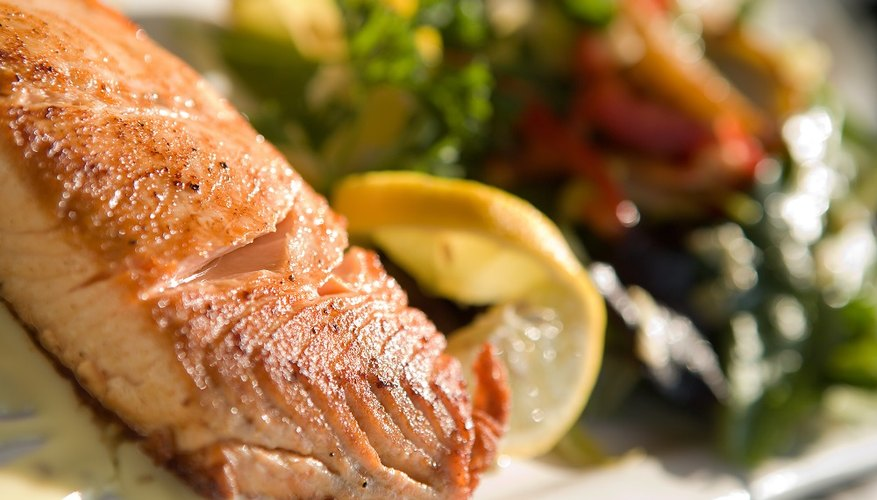 It's easy to microwave a salmon fillet