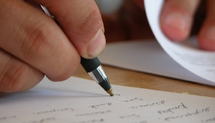 You can draft your statement on paper, but should word process the final copy.