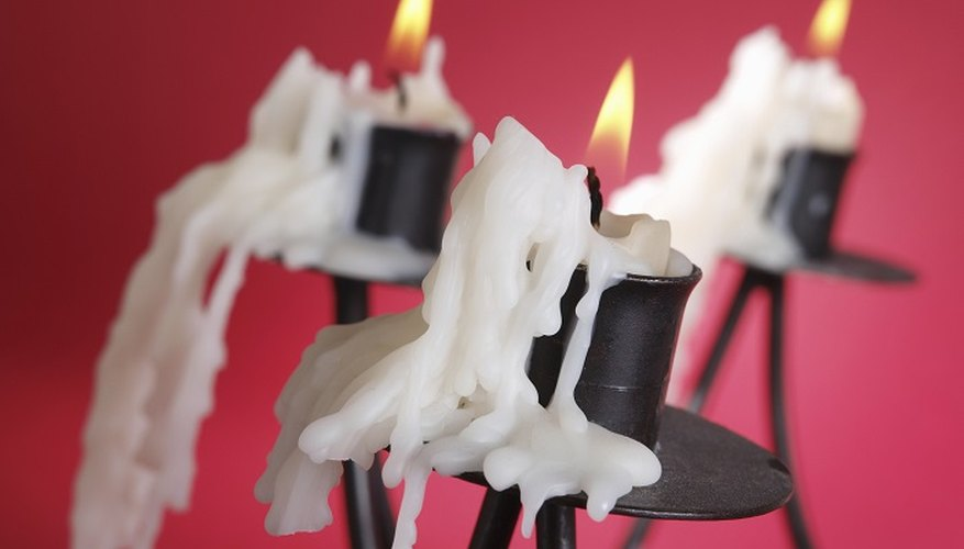 You can clean candle wax stains off your walls.