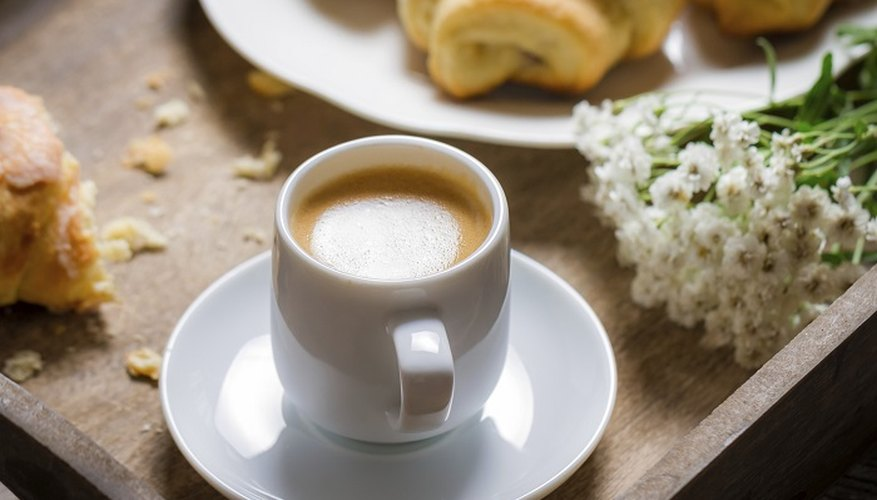 Coffee and croissants are a popular continental breakfast choice.