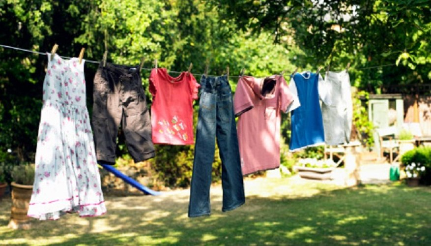 It's important to air-dry clothes if they've been stained with fat.