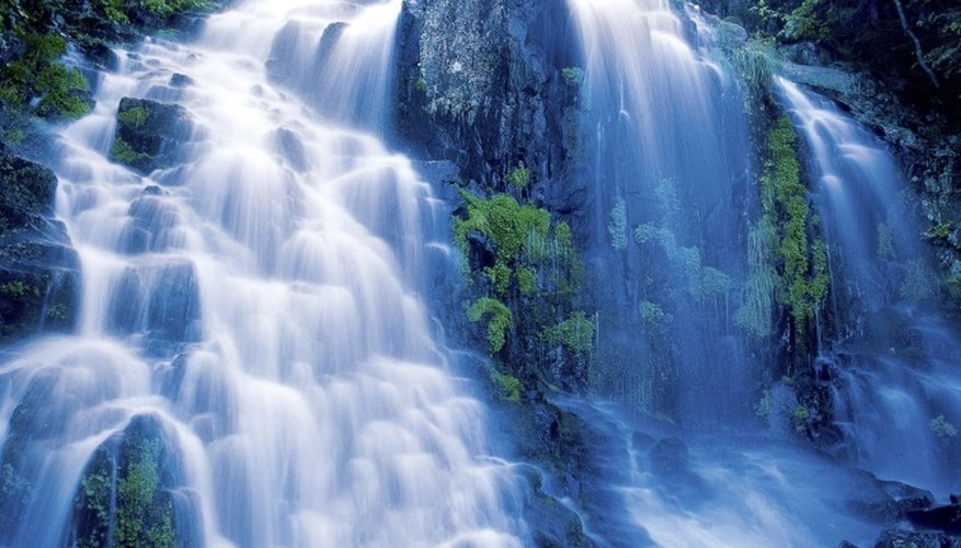 Waterfalls can seem both peaceful and chaotic.