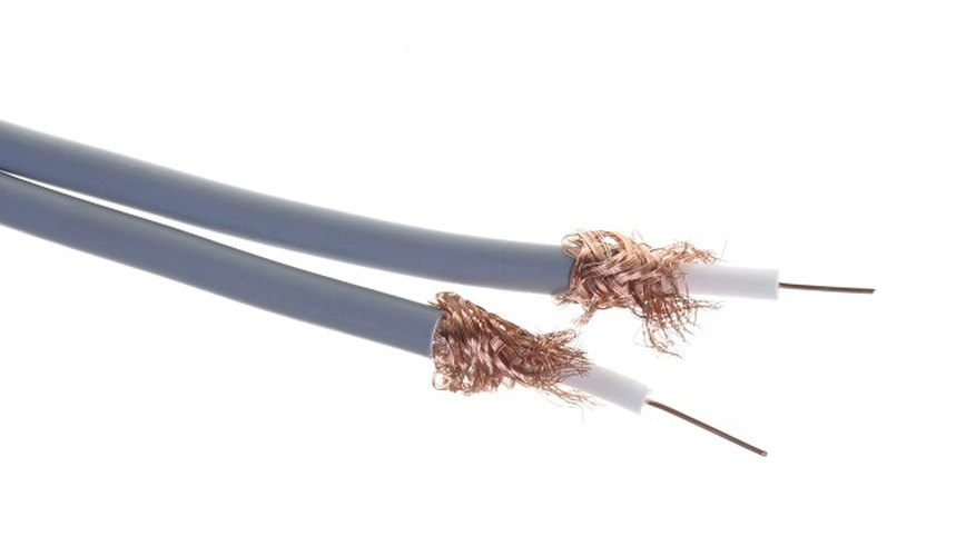 Repair a cut TV aerial cable by splicing the ends together.