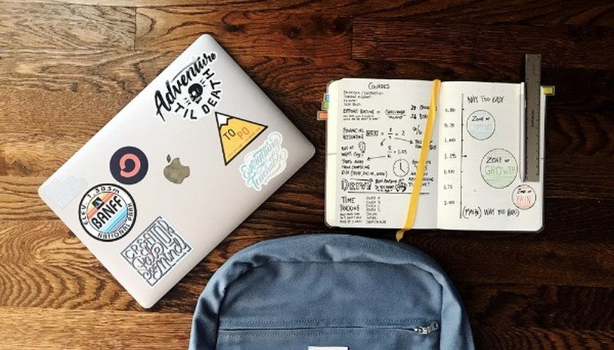 Flat lay photography of blue backpack beside book and silver macbook.jpg