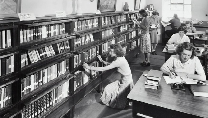 Vintage photo of women inside the library.jpg