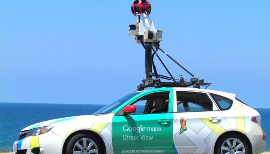 White and green google maps hatchback.jpg