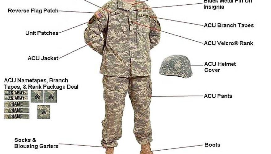 ACU Uniformed Soldier