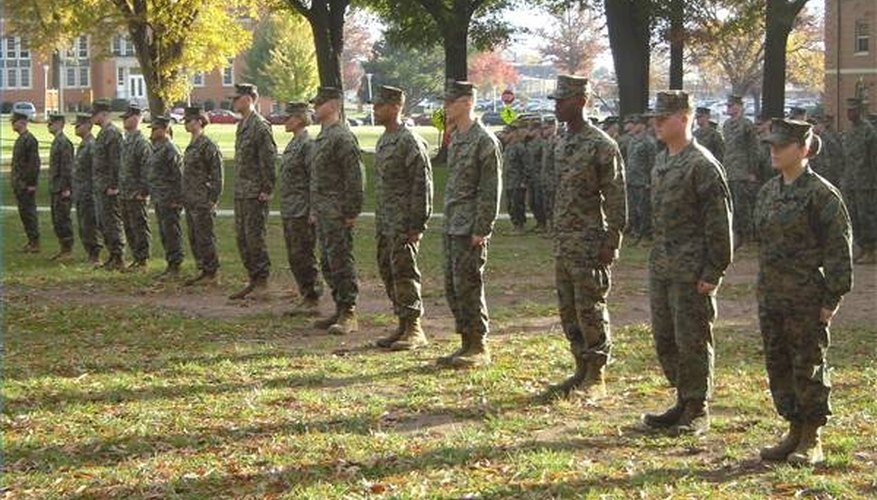 Marines must attend formation multiple times a day.