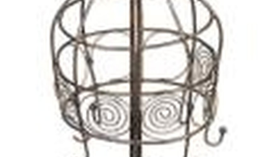 Sculpt wire into forms with soldered joints to create your lampshade.