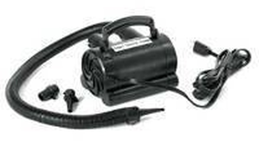 Electric air pump with attachments.