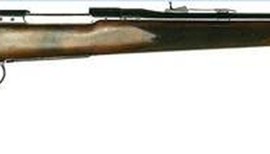 A .22LR bolt action rifle.