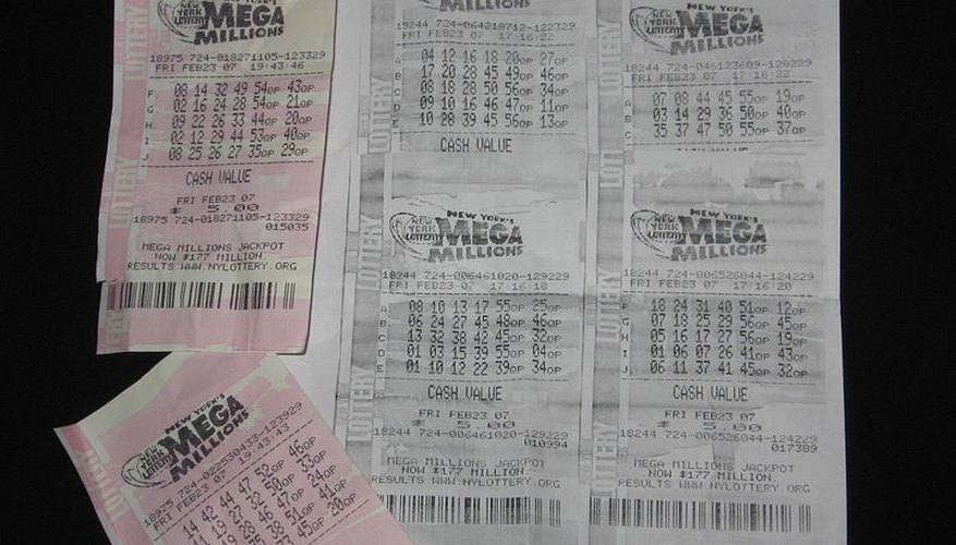 Buying multiple tickets gives you a very slightly larger chance of winning a lottery jackpot.