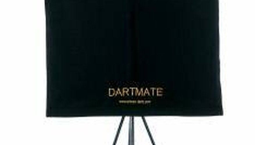 A portable dartboard stand