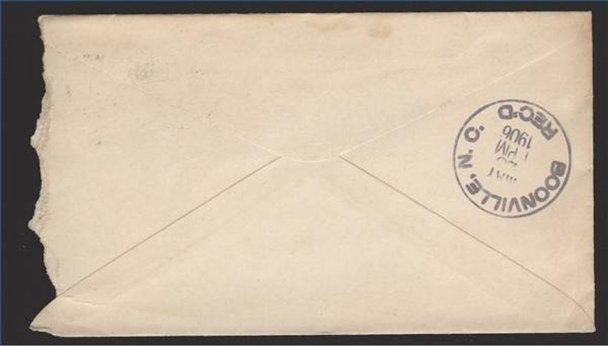 An envelope mailed through the United States Postal System.