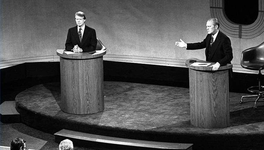 Carter vs. Ford, Presidential Debate, 1976 (public domain)